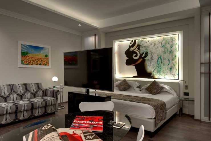 Luxury apartments  art hotel commercianti bolonia